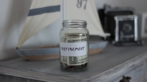 money jar retirement